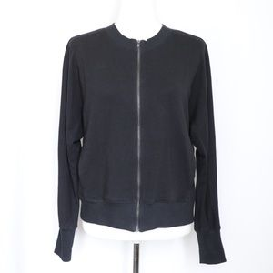 Eileen Fisher Black Full Zip Stretchy Jacket